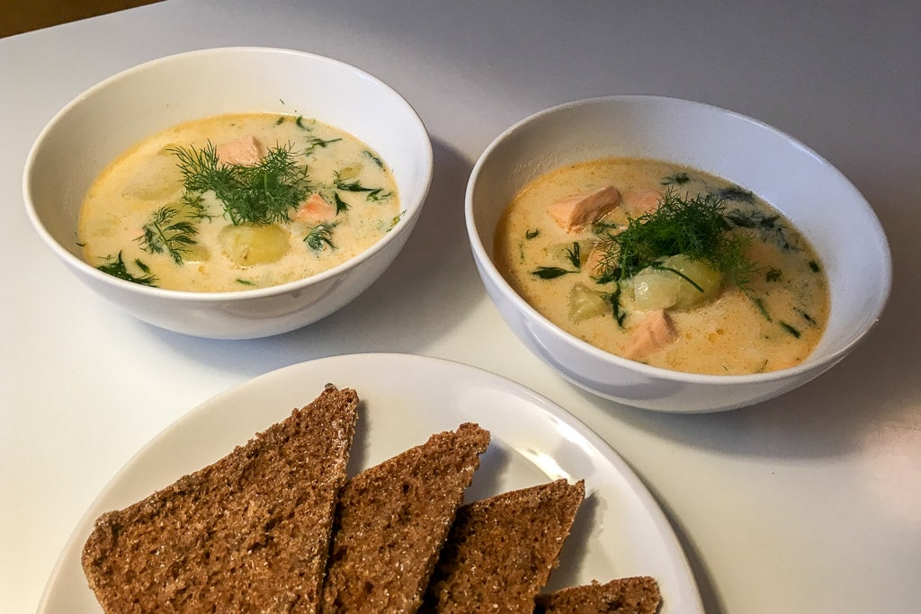 Finnish Salmon Soup Lohikeitto