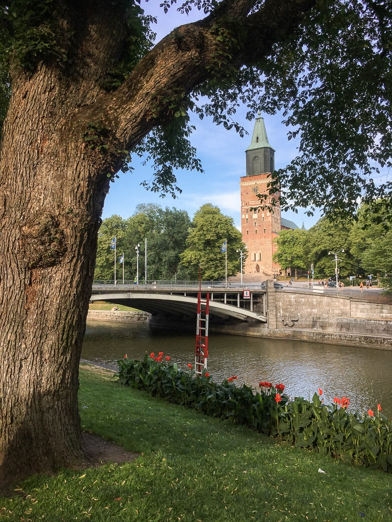 Turku Cathedral Aurajoki River